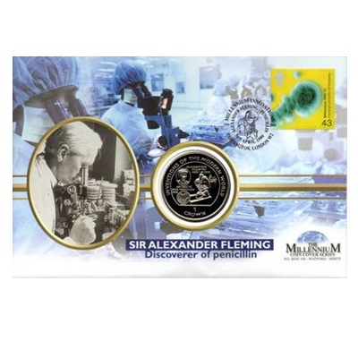 1995 BU 1 Crown - Sir Alexander Fleming Commemorative Coin